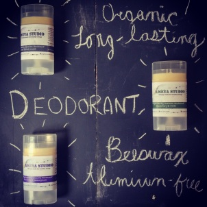 Our organic deodorant! 3 scent blends to keep you fresh!